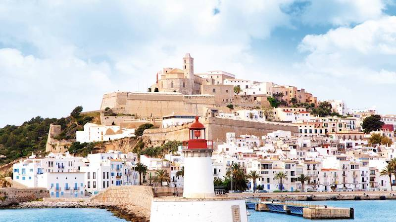 Ibiza Town a vibrant lively and cultured destination all year round