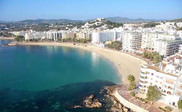Santa Eulalia Beach a beautiful fine clean stretch of soft sand