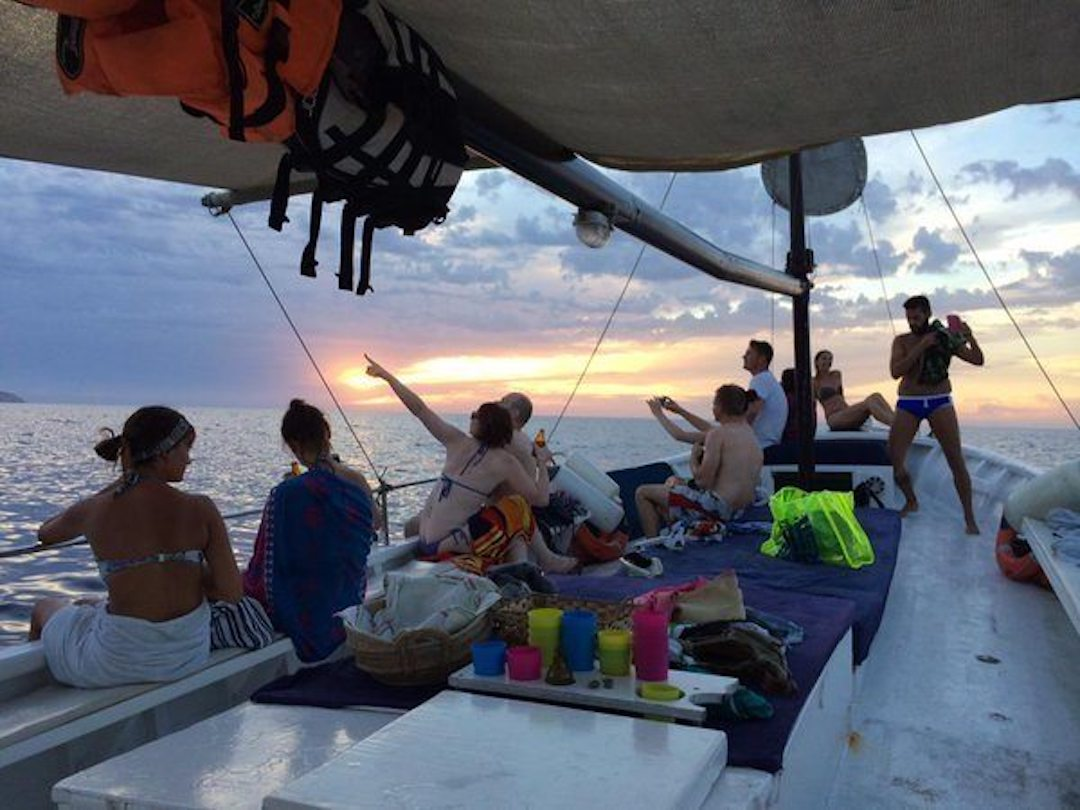 Relaxing on-board Chilli Pepper Charters