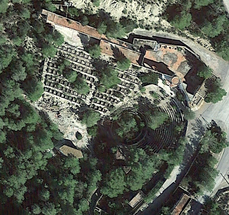 The Festival Club Ibiza from above where you can still see the abandoned complex