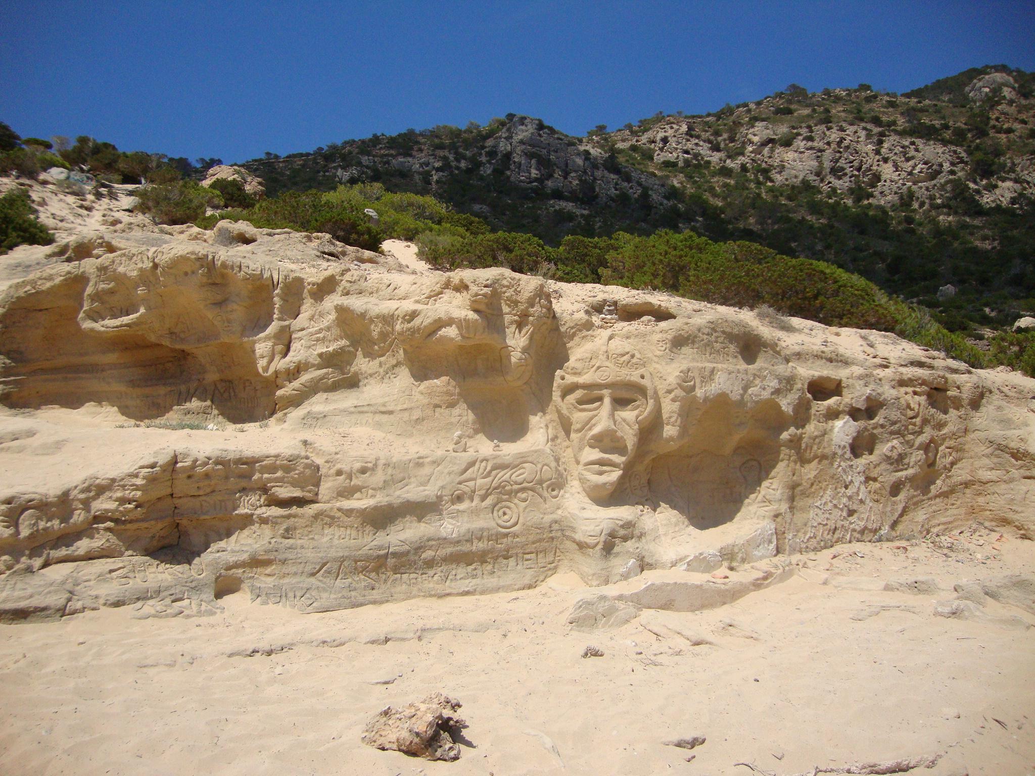 The rock carvings at Atlantis Ibiza