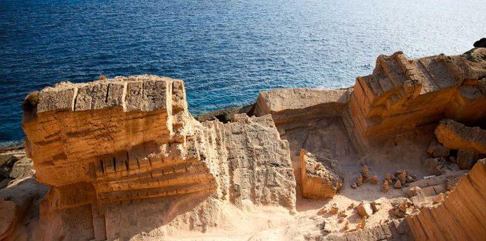 Atlantis a secret cove in Ibiza