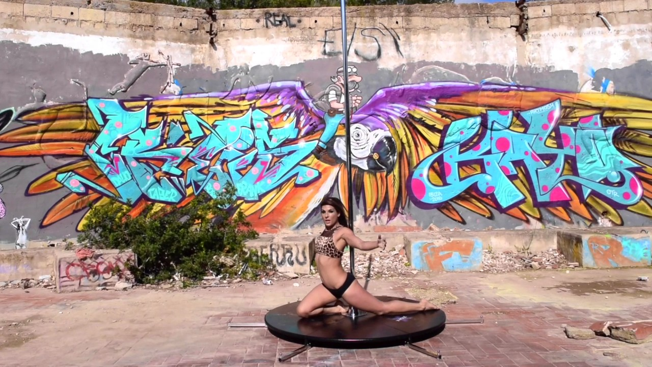 The Festival Club today is used for promo videos and photos, this is from Pole Fit Ibiza